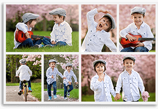 6 Panoramic Photo Collage
