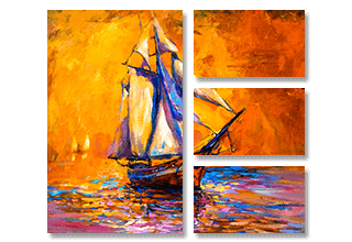 4 Panel Split Canvas Prints