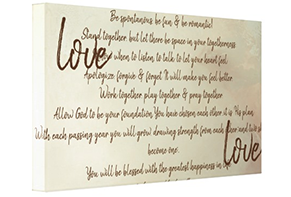 First Dance Canvas, Your Wedding Song Lyrics On Canvas