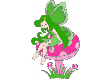 Angels in Green Wall Decals
