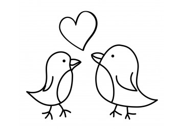 Best Love Bird Wall Decals