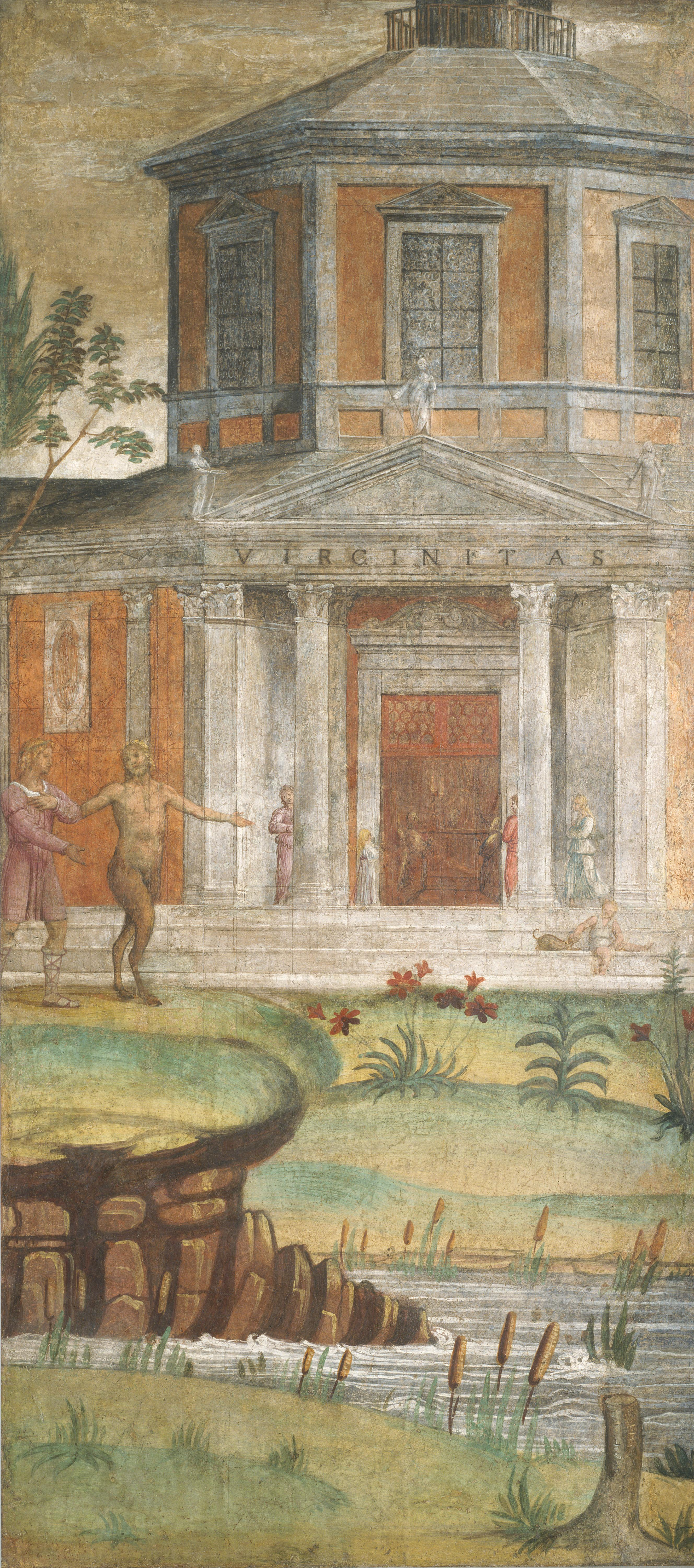 Cephalus and Pan at the Temple of Diana -1520-1522