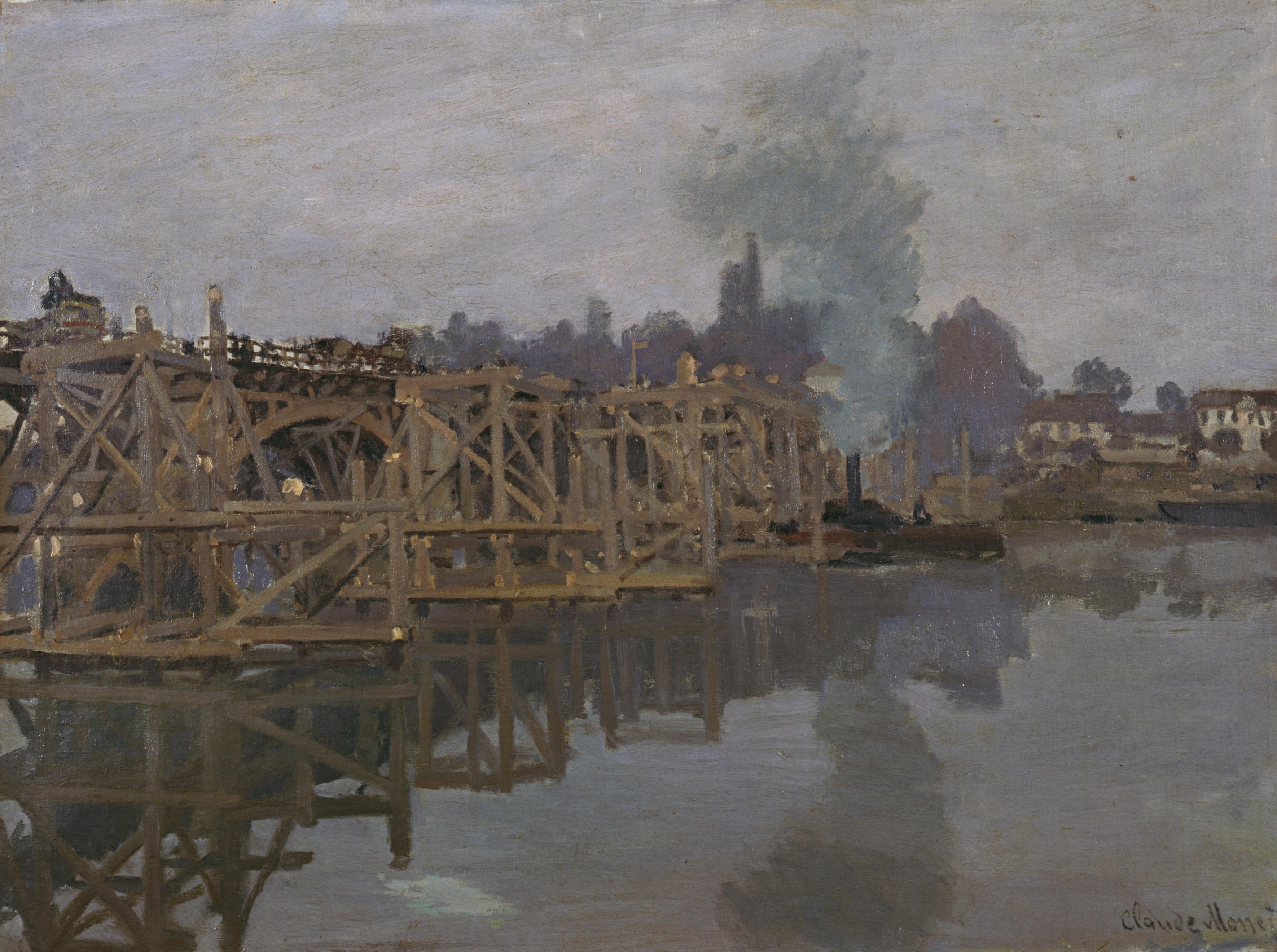 Claude Monet - The Bridge under Repair 1871-1872