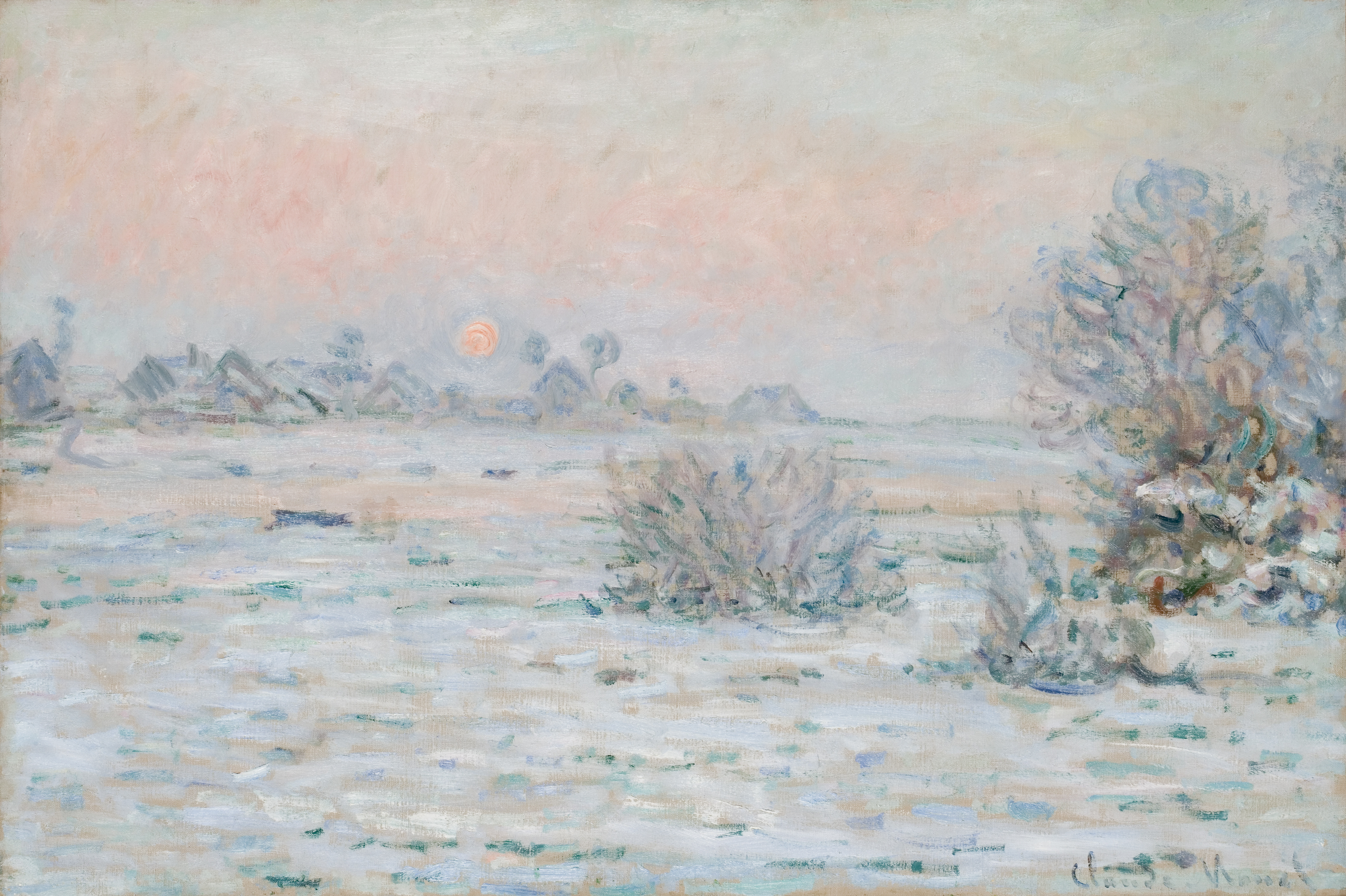 Claude Monet - Winter Sun Lavacourt 1879-1880