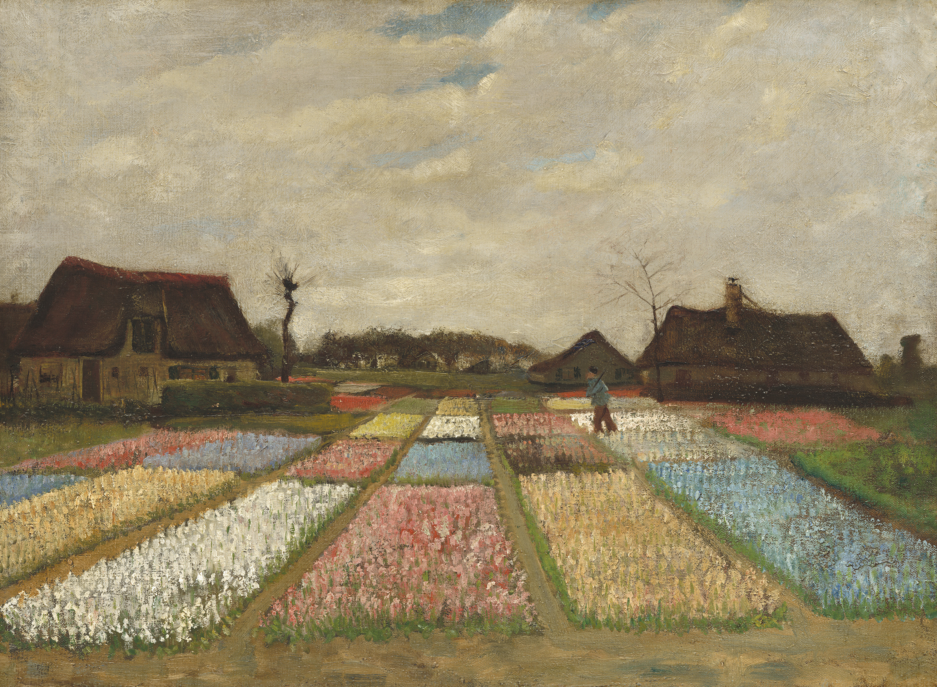 flower beds in holland vincent van gogh