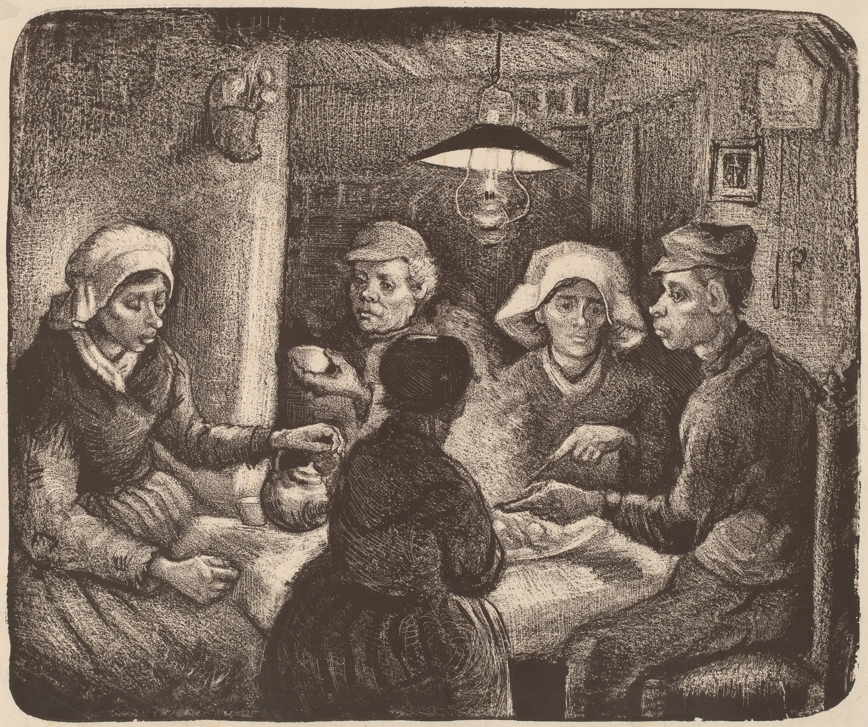 Study for The Potato Eaters Lithograph