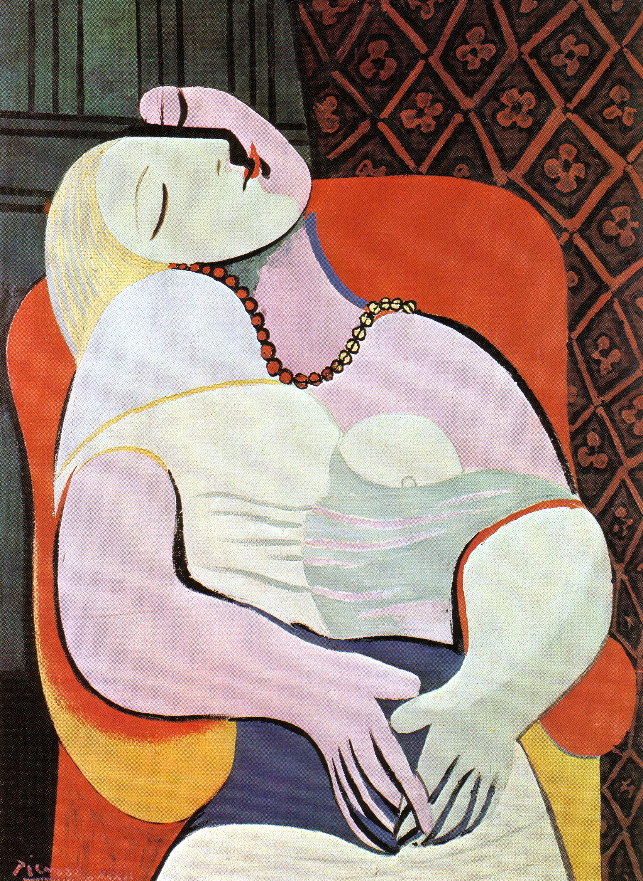 Woman Asleep in an Armchair The Dream 1932