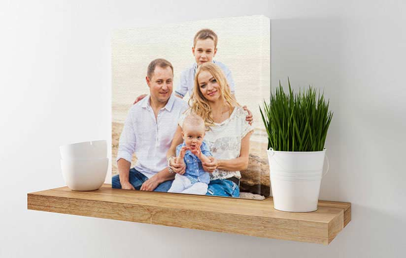 Family photo printed on gallery wrapped canvas by canvaschamp