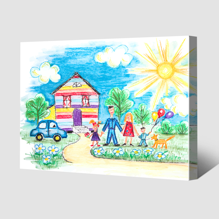 Children's Drawings on Canvas