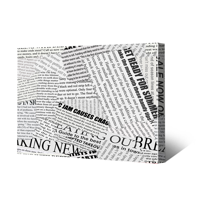 Newspaper Clippings on Canvas Prints