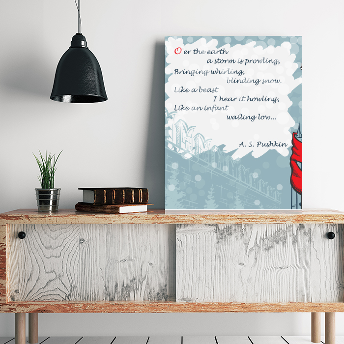 Your Favorite Poem on Canvas