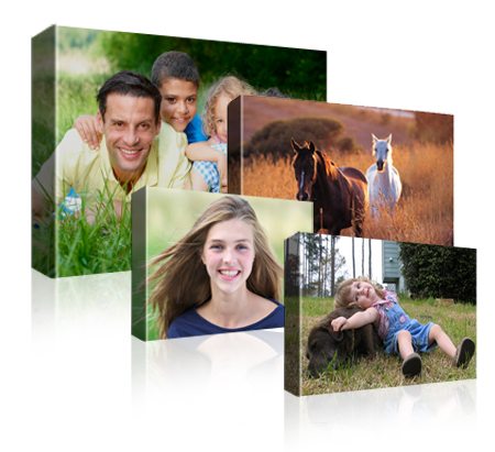 single canvas prints for different photos