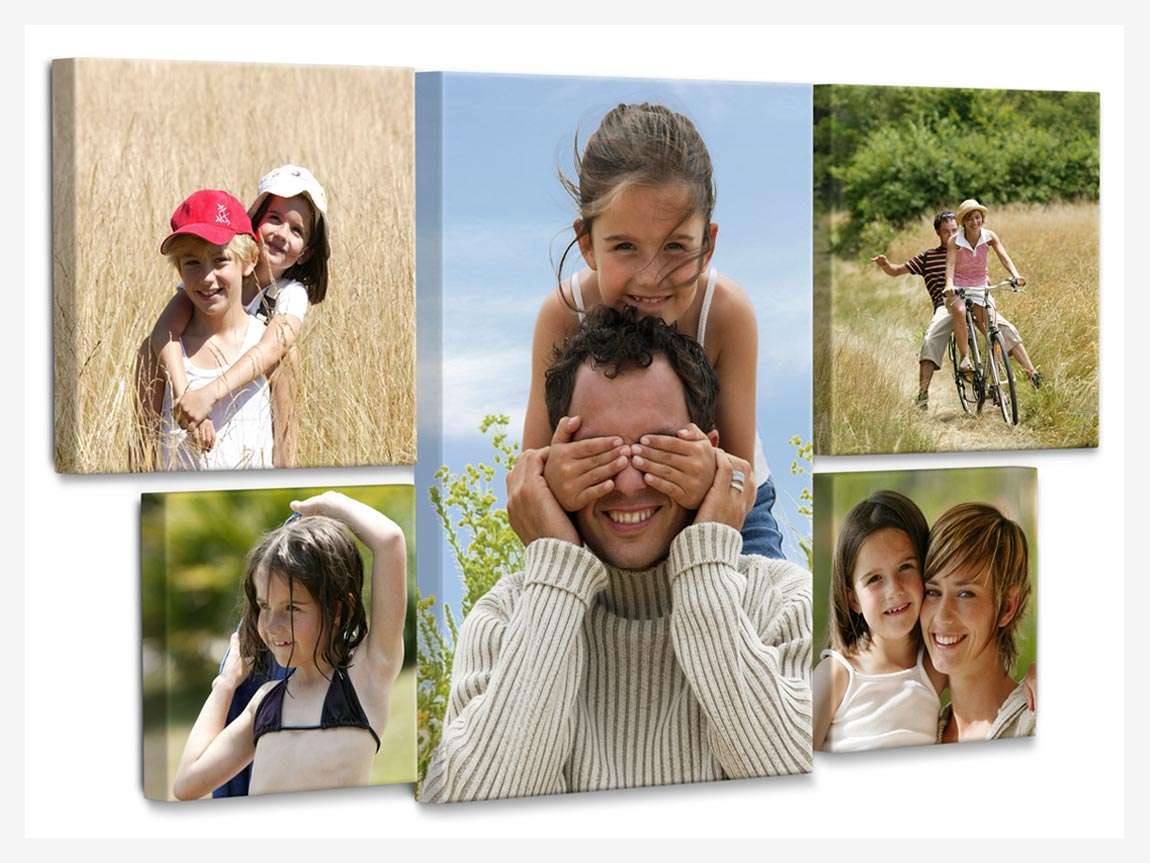 family photos on canvas prints