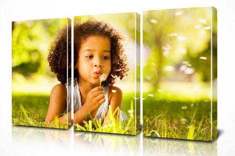 kids photos on canvas
