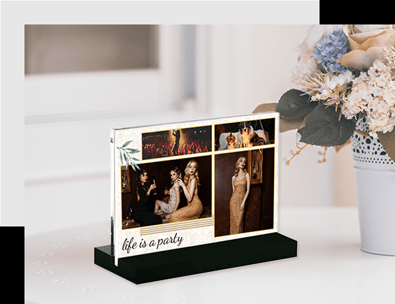 Custom Acrylic Photo Block Stand