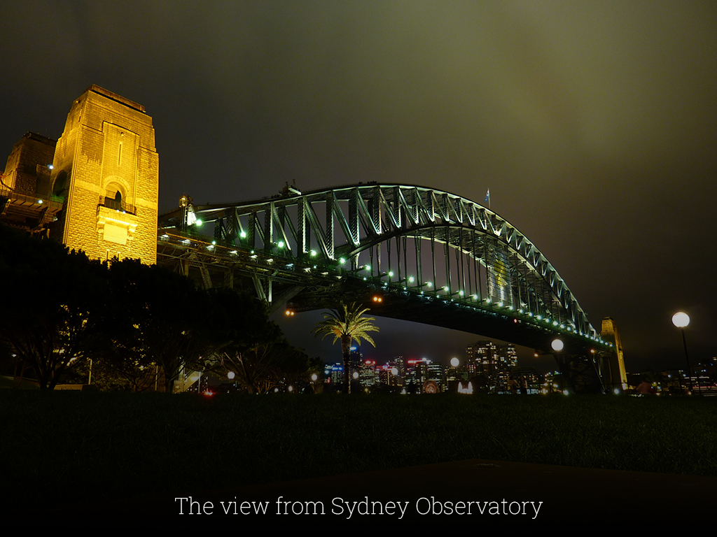 The view from Sydney Observatory