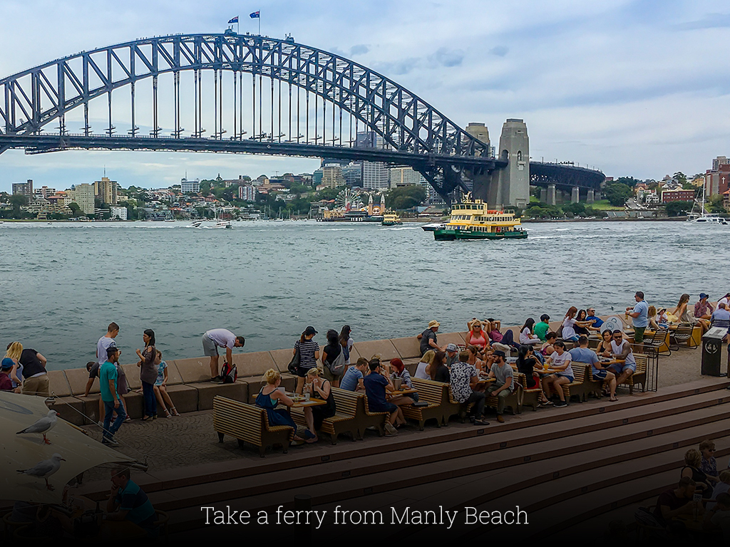 Take a ferry from Manly Beach