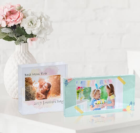 Change the look of your home with these acrylic photo blocks