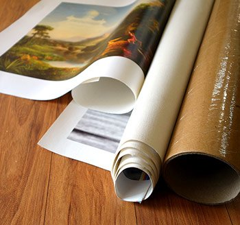 Rolled canvas prints
