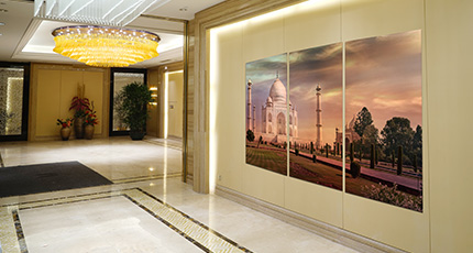 Reception desk in luxury interior - reception desk Wall Art