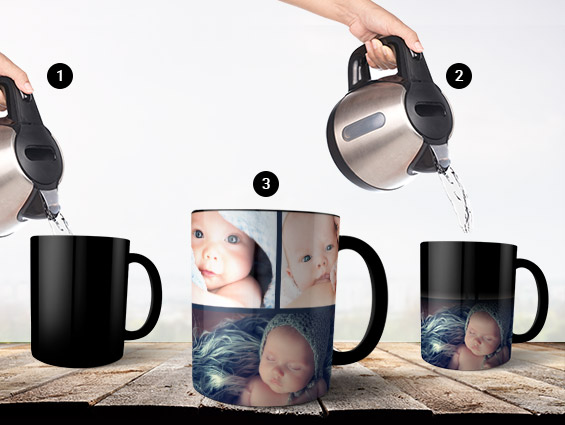 Create Colour-Changing Magic Photo Mugs