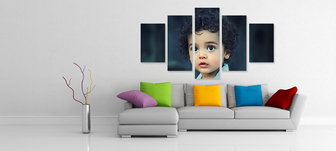 Create your split canvas prints by self in few simple steps