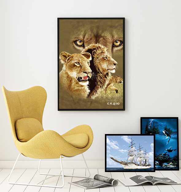 Lion Roar 3D Picture Print
