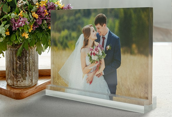 Acrylic Photo Block Stand