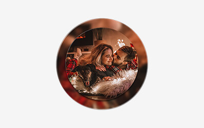 Circle Double Acrylic Frame