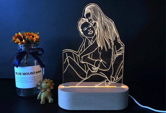 Turn Your Photos into Luminating LED Lamps