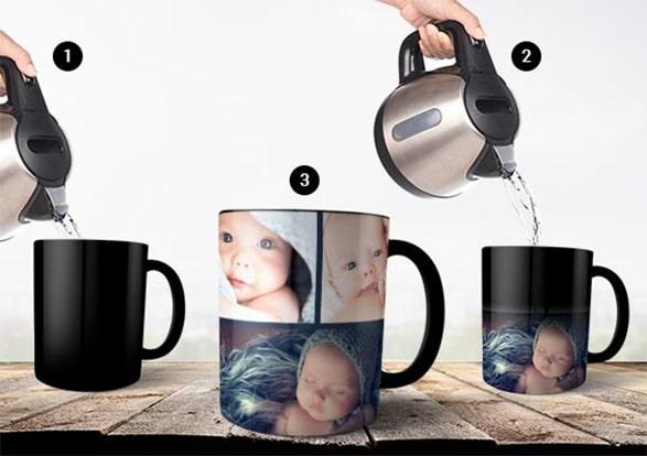 Create Colour-Changing Magic Photo Mugs