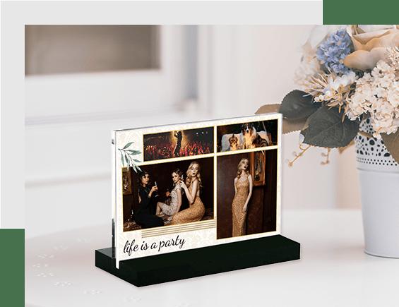 Acrylic Photo Block Stand